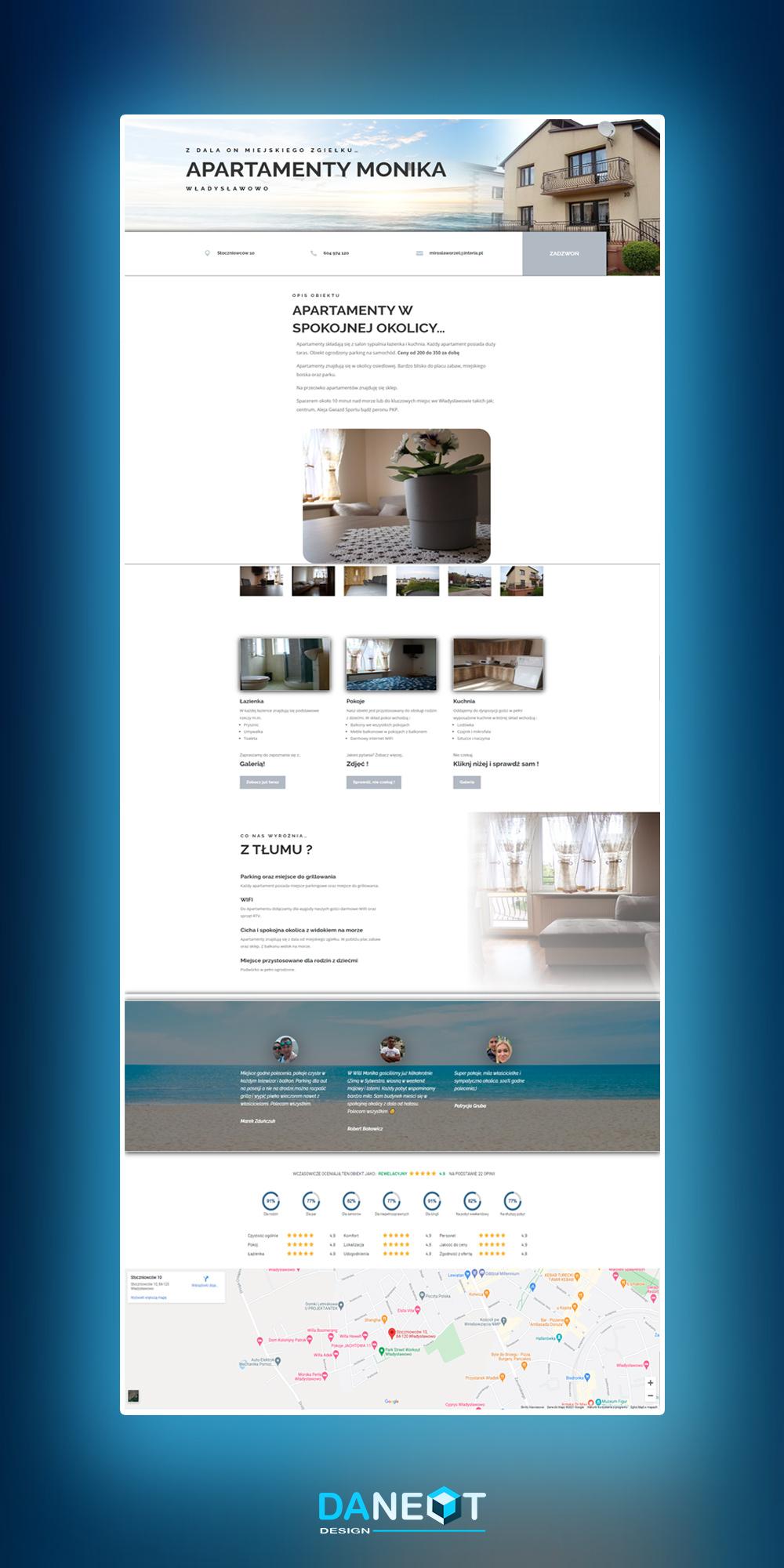 DANET - Realizacja strony internetowej